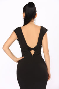 Beau's Ball Bow Dress - Black Angle 5
