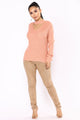 Good Gossip Long Sleeve Sweater - Rose