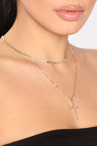 Only Go One Way Choker - Gold