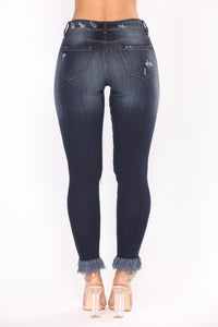 Can't Be Bothered Ankle Jeans - Dark Denim