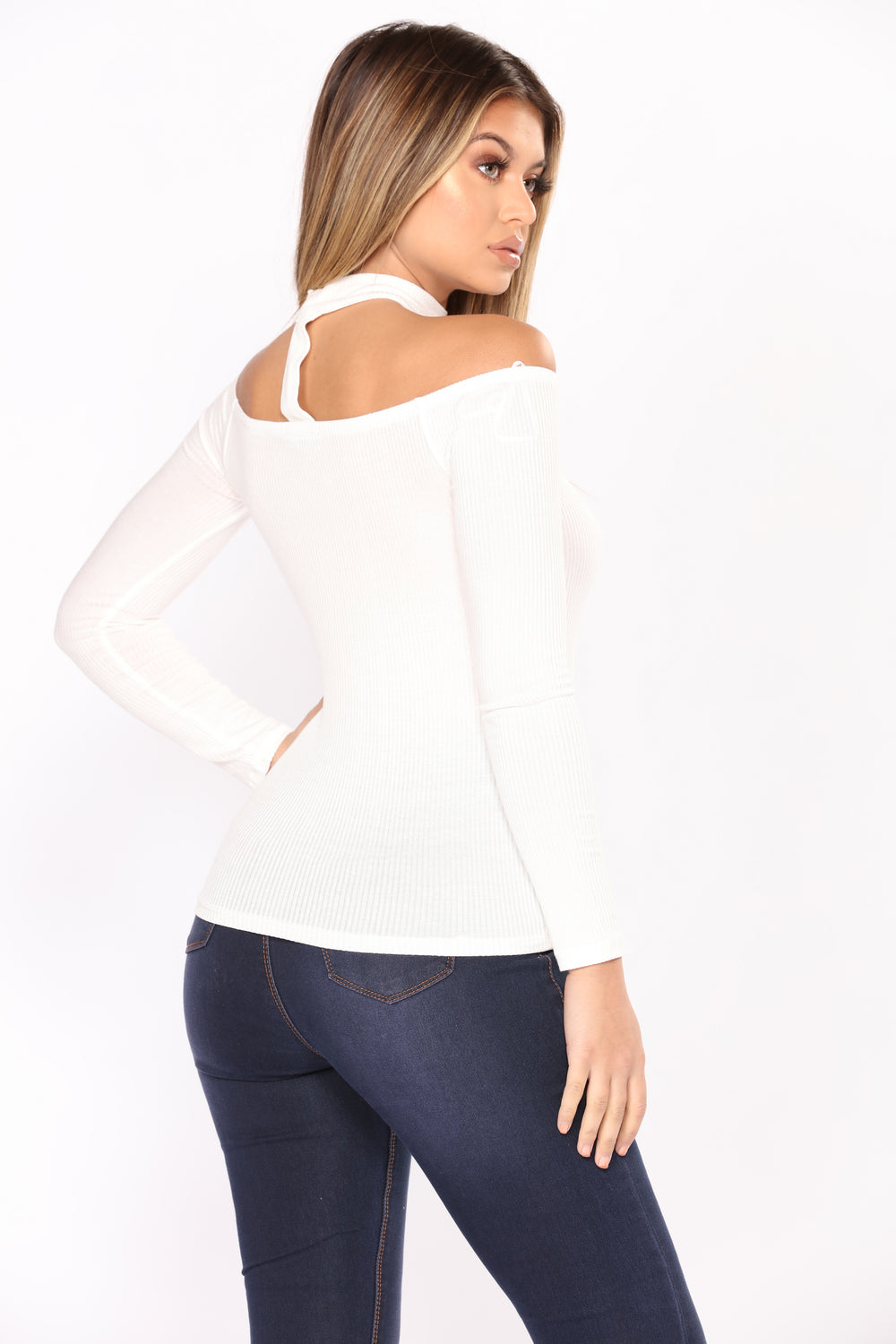 Delina Choker Top - White
