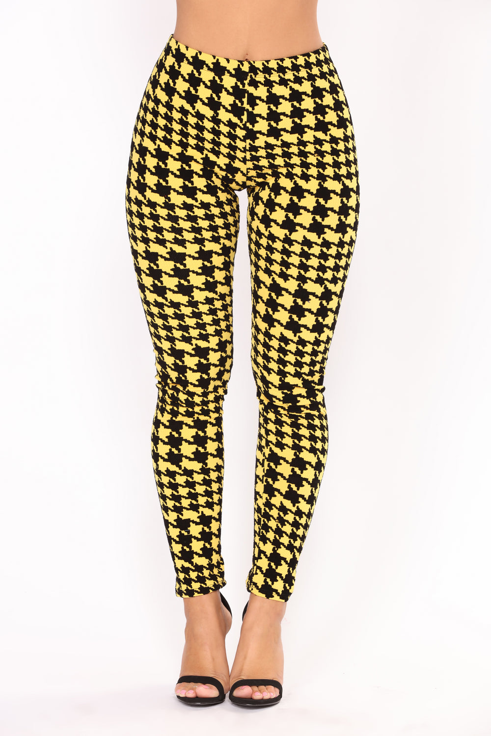 Alfie Houndstooth Pant Set - Yellow