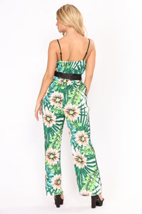 Laying Underneath The Palm Trees Jumpsuit - Multi