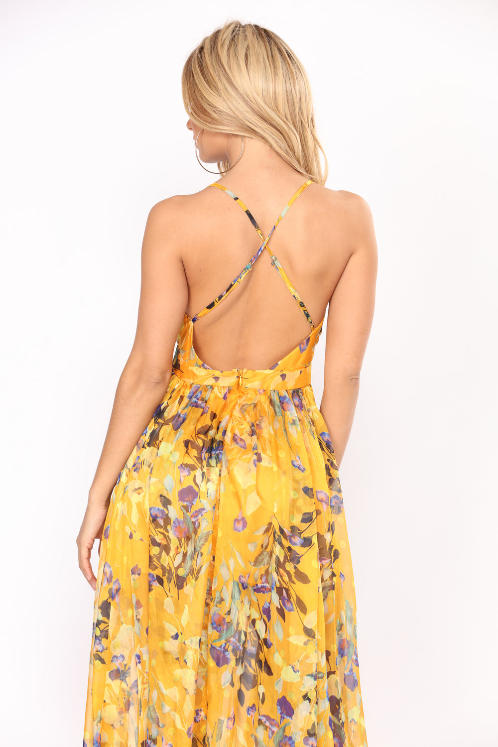 Sunshine State Floral Dress - Yellow