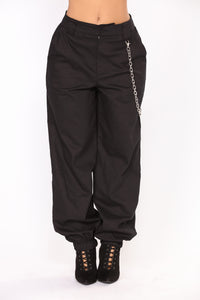 Chained To Your Love Joggers - Black