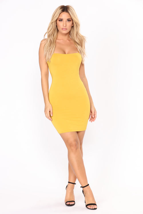 Kiki Mini Dress - Mustard