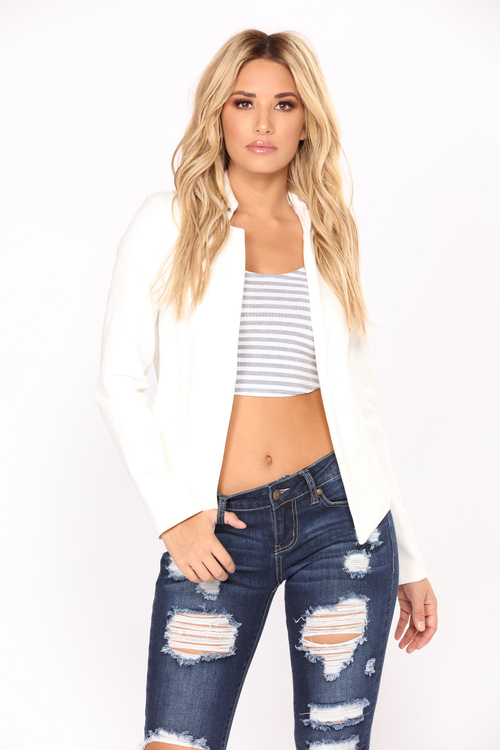 Why So Serious Blazer - White
