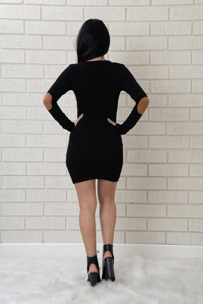 Patch Things Up Dress - Black