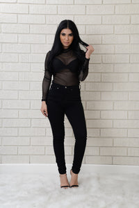 Take the Bait Bodysuit - Black