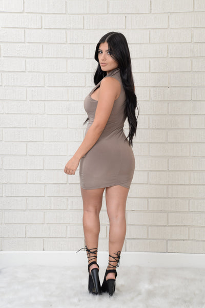 Ava Dress - Taupe