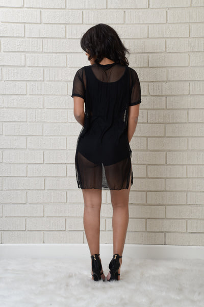 Turn Up Tunic - Black