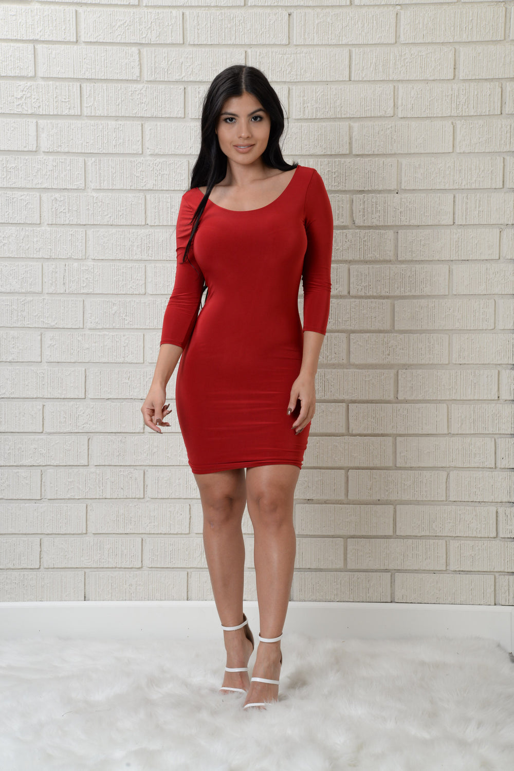Crossroads Dress - Deep Red