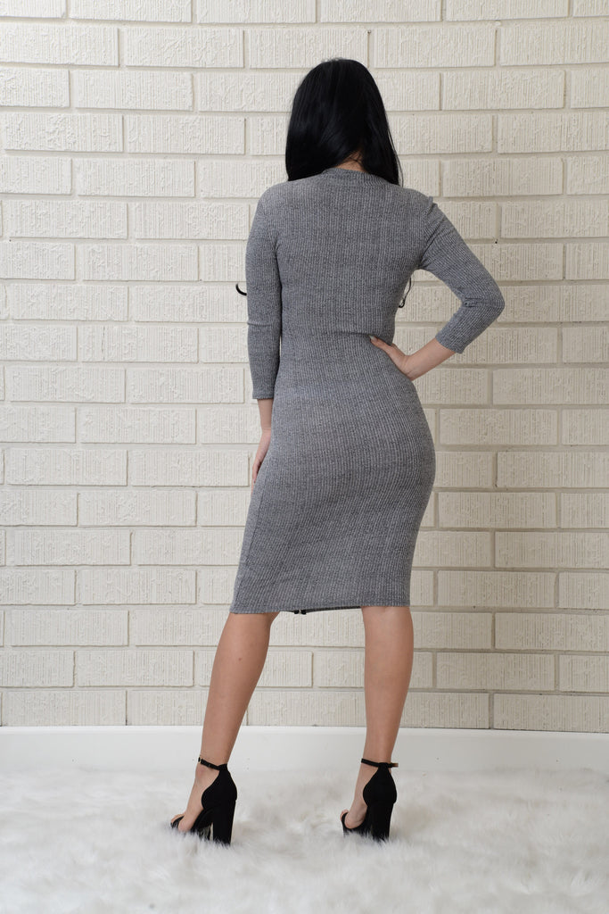 Borderline Dress - Grey