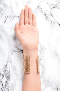 Through The Wire Cuff Bracelet - Gold