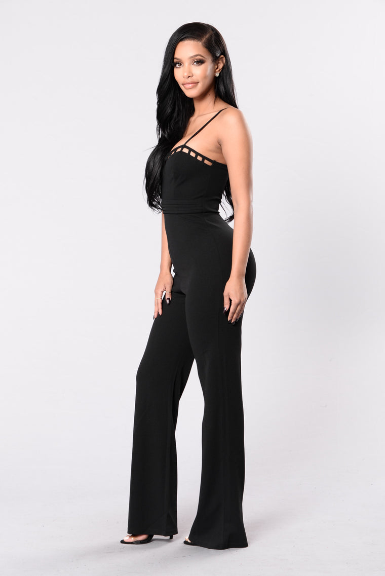 Self Control Jumpsuit - Black