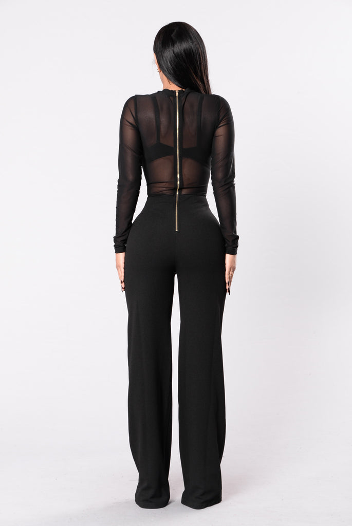 Slide On A Late Night Jumpsuit - Black