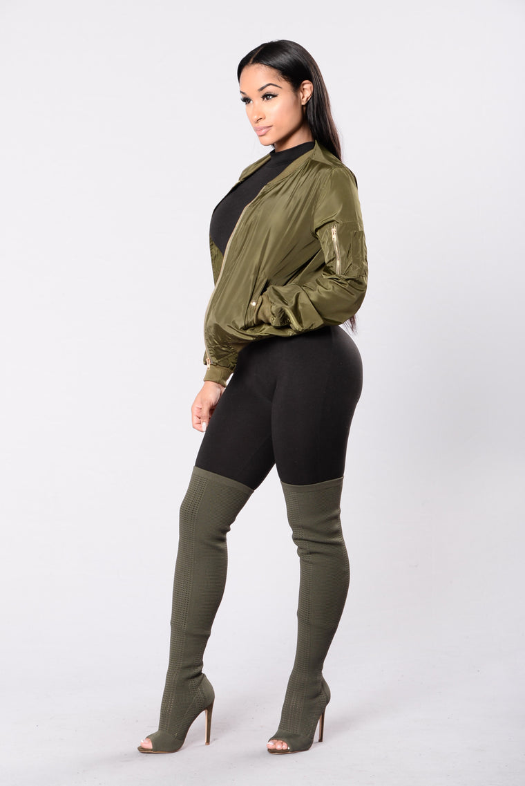 Put Your Arms Around Me Jacket - Olive