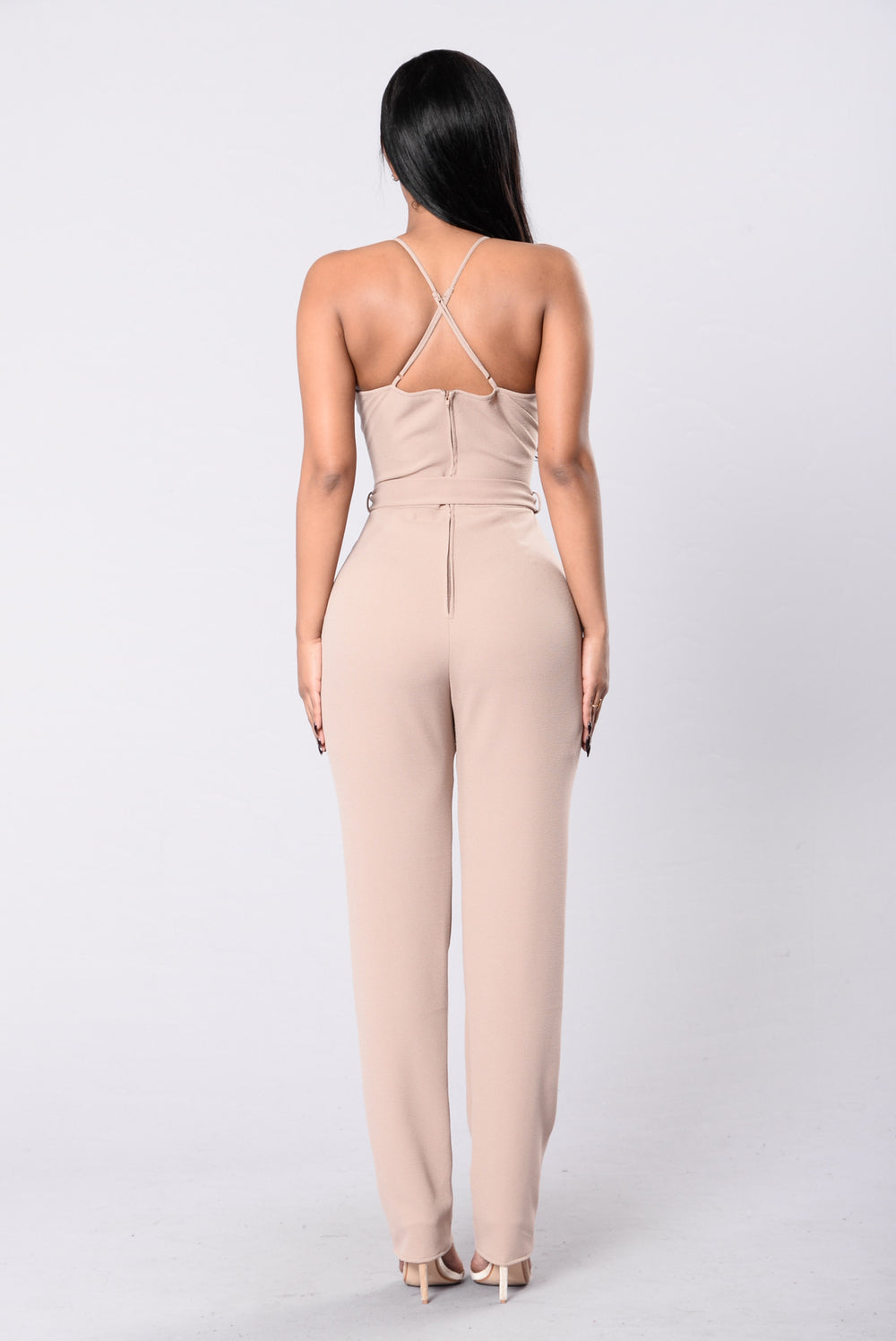 Dynamite Crush Jumpsuit - Walnut
