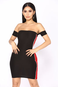 She's All That Sporty Dress - Black/Red