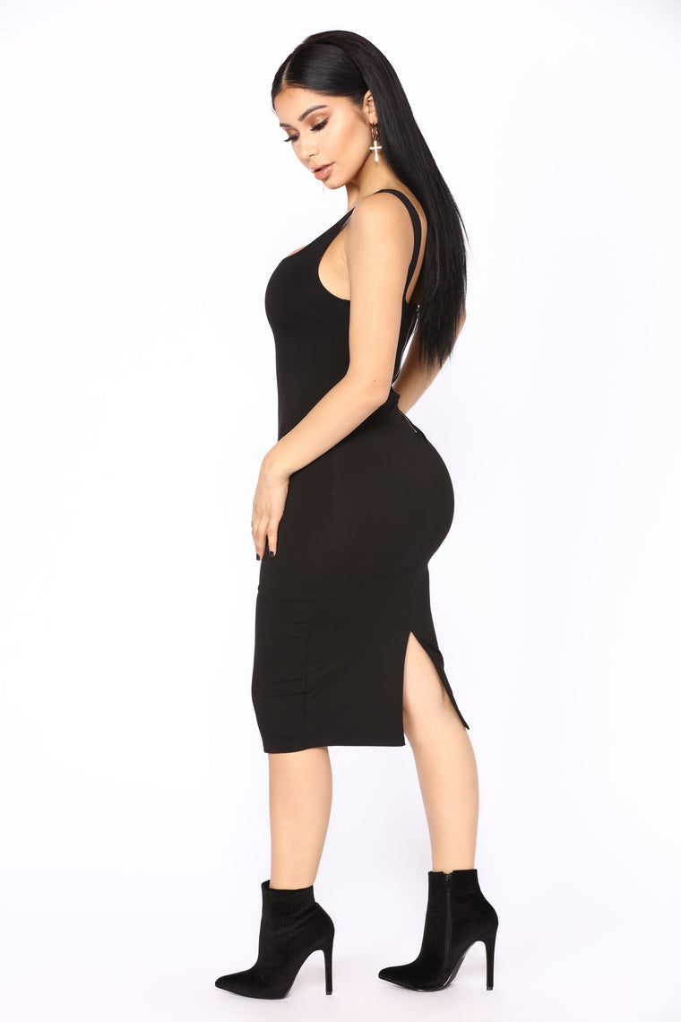 Deb Midi Dress - Black