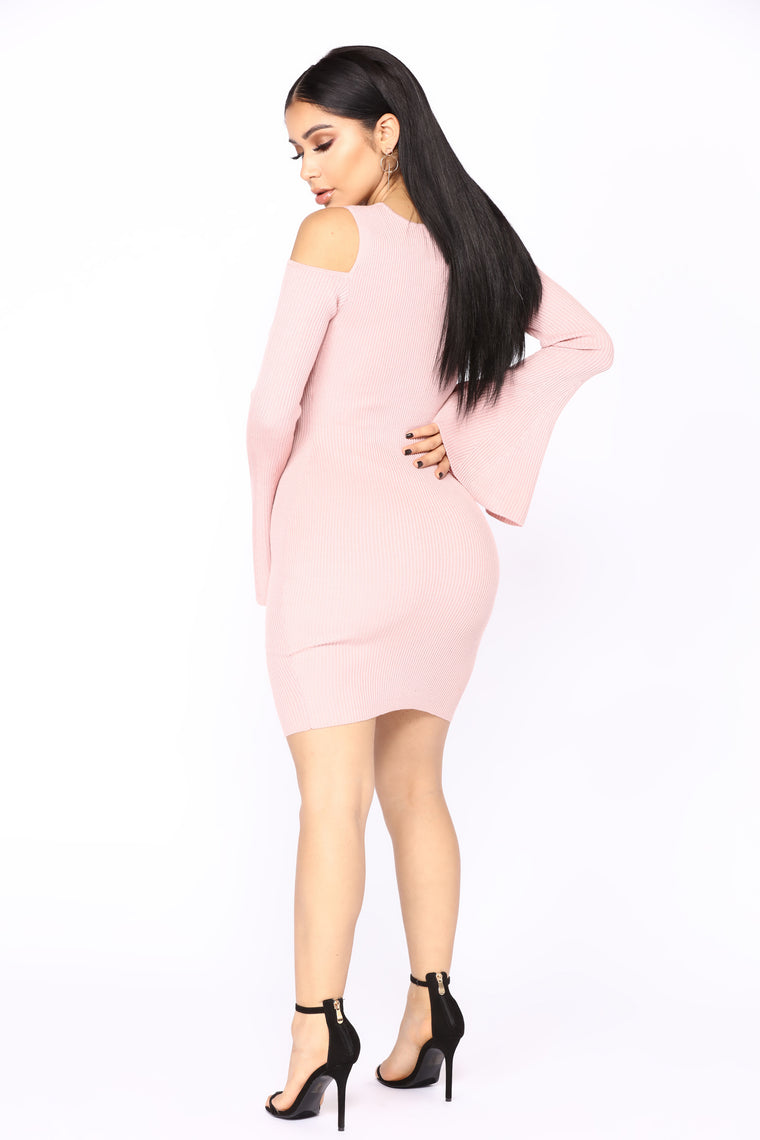 Cristal Knit Dress - Mauve