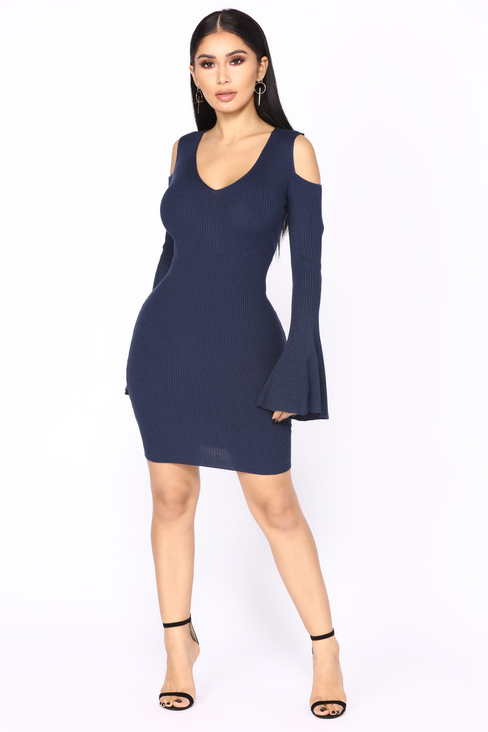 Cristal Knit Dress - Navy