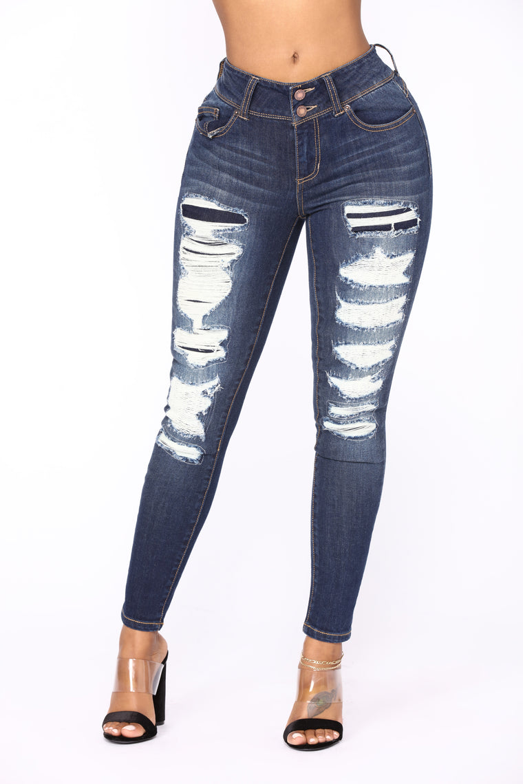 Ora Skinny Jeans - Dark Denim