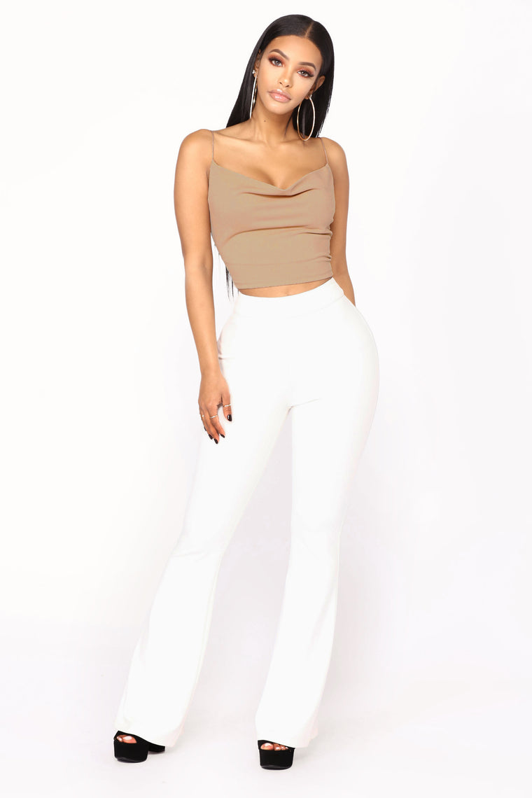 Too Cool Girl Tank Crop Top - Nude-3918