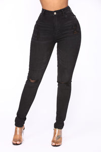 I Feel Like A Rock Star Skinny Jeans - Black