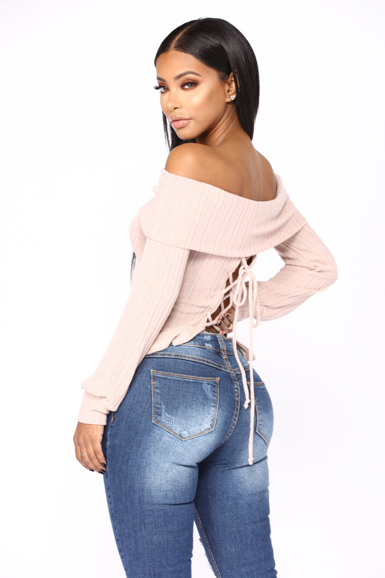 Can't Refuse It Off Shoulder Top - Mauve