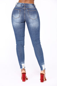 Young & Wild Skinny Jeans - Medium Blue Wash