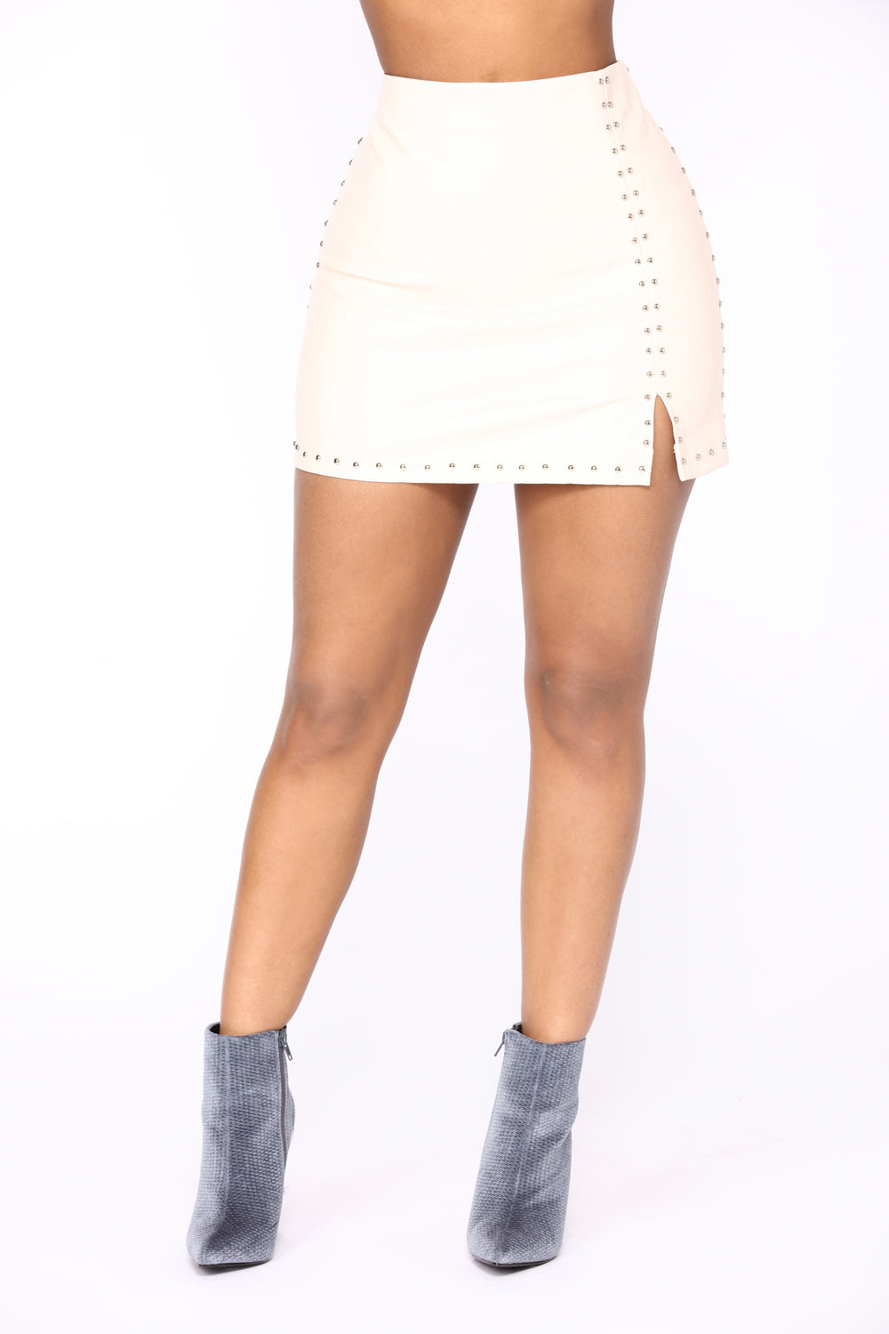 Hard Knock Leather Skirt - Pink