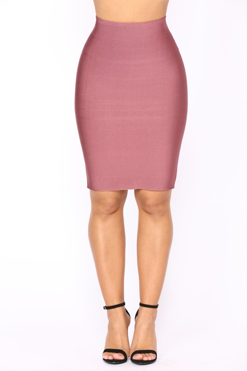 Luxe Pencil Skirt - Rose Brown