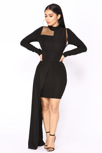 Catwalk Asymmetrical Dress - Black