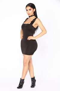 Detour Buckle Dress - Black