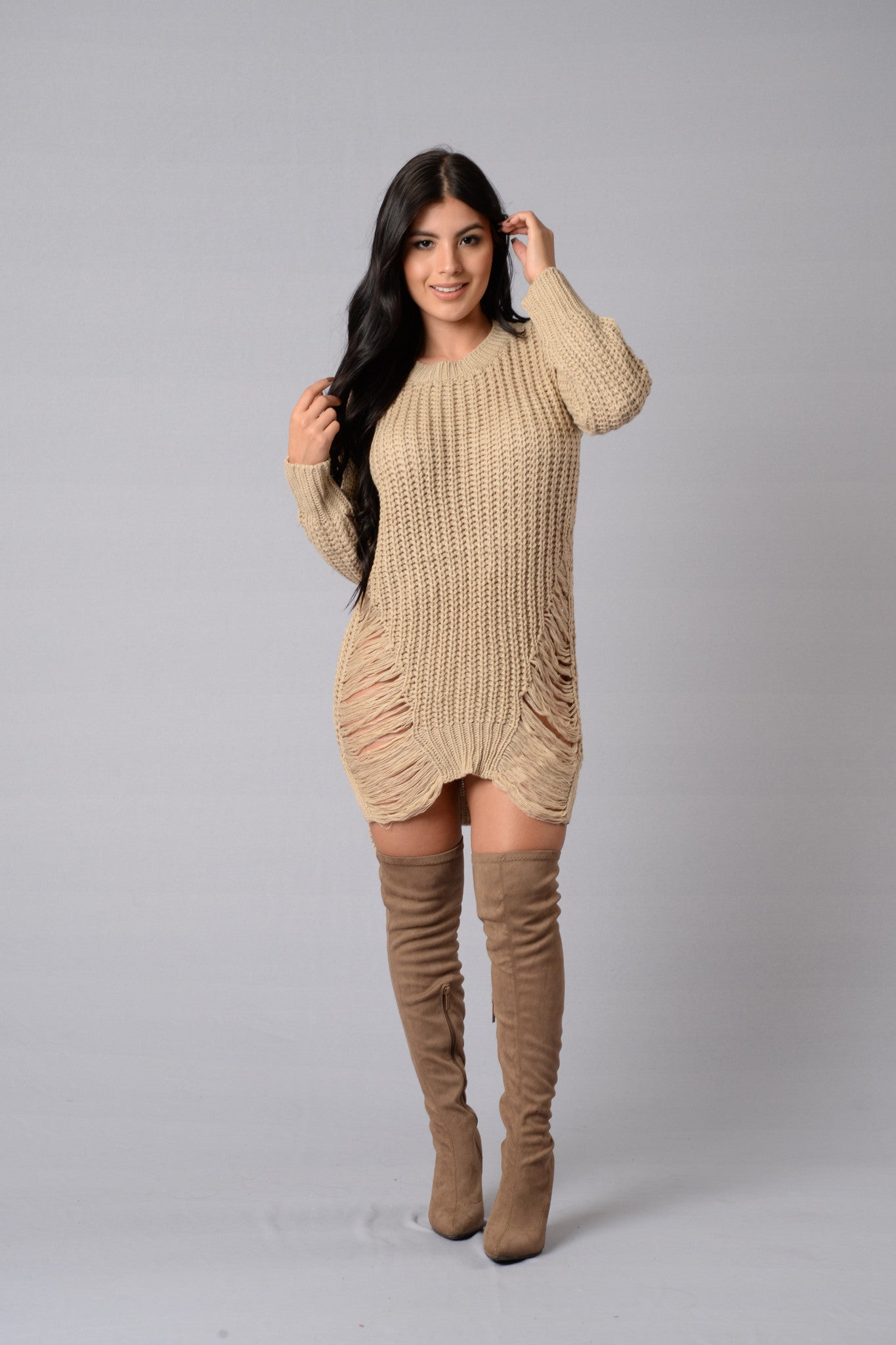 Sweater dress outfit images