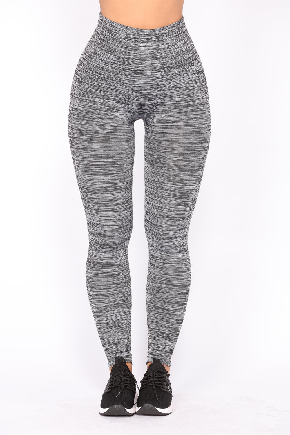 Carli Fleece Lined Leggings - White/Black