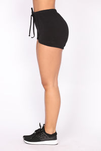 Stay In Shape Contouring Lounge Shorts - Black