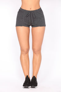 Stay In Shape Contouring Lounge Shorts - Charcoal