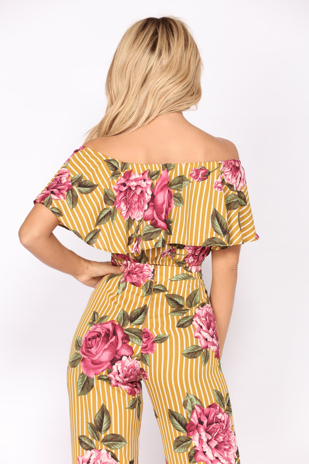 Smell The Roses 2 Piece Set - Mustard