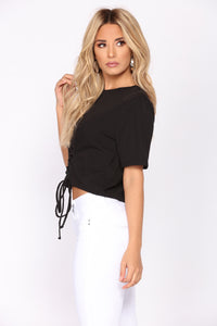 Have You Ever Corset Tee - Black