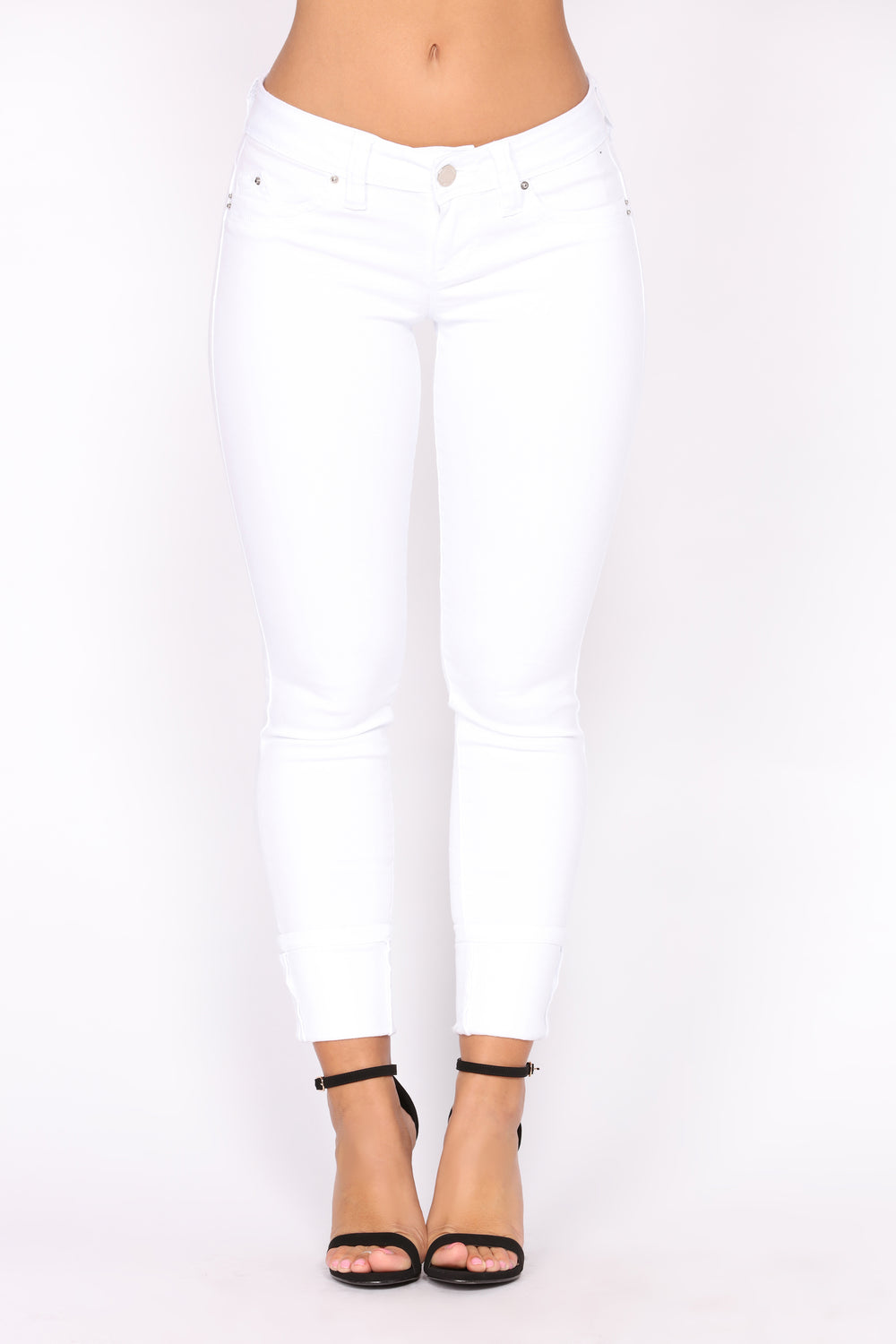 Current Mood Ankle Jeans - White