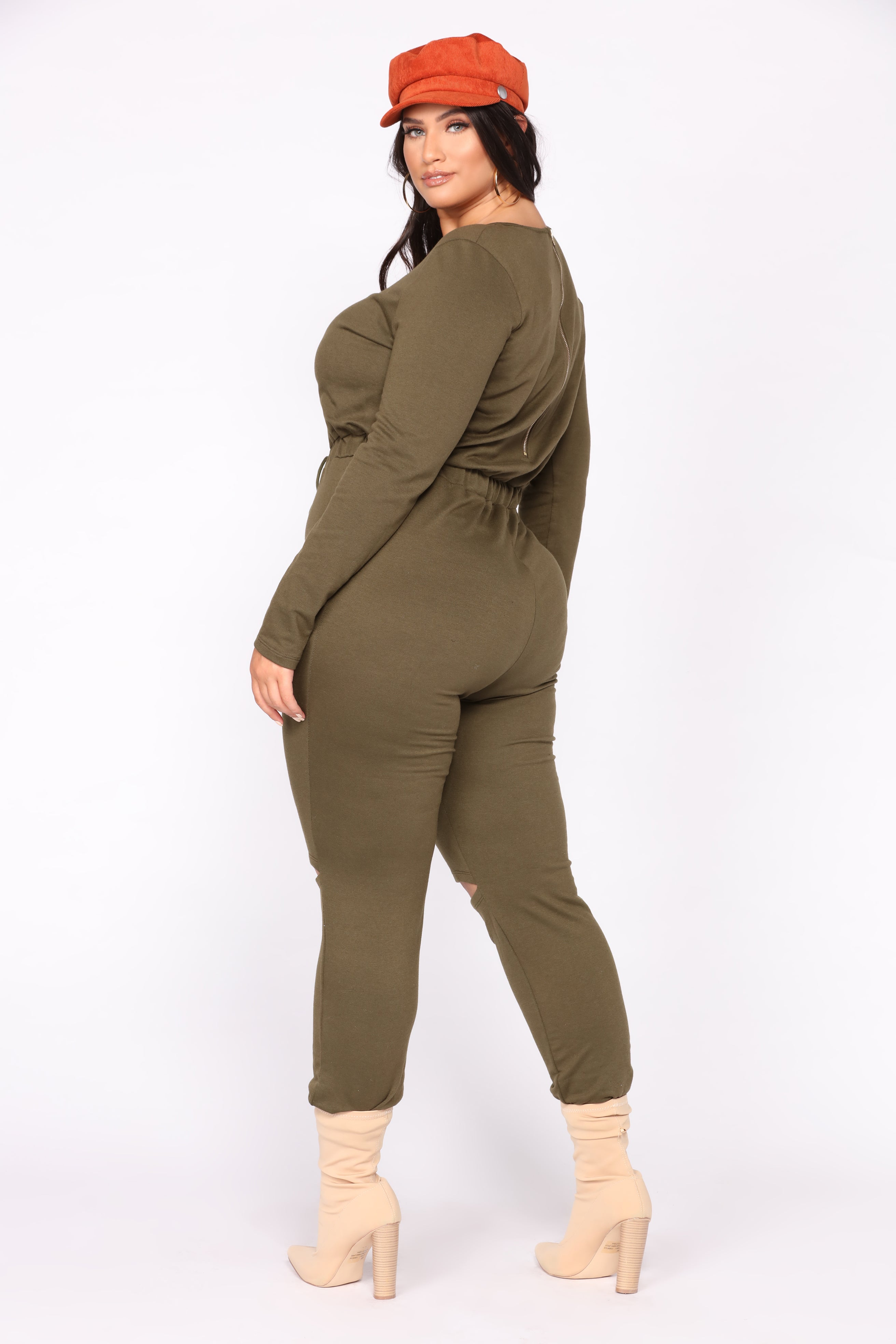 9f0cdb6e1ca On the Run Jumpsuit - Olive