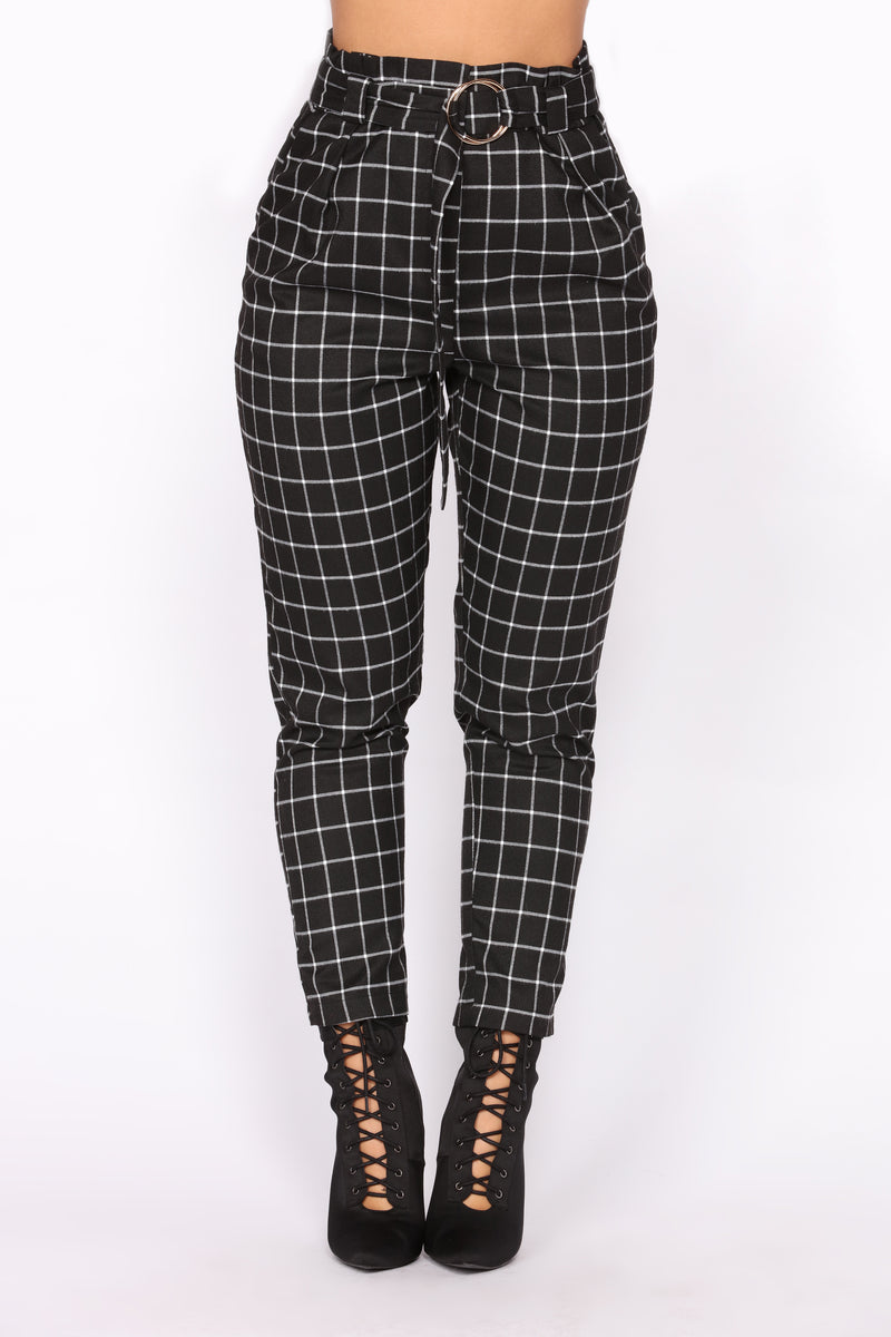 Seeing Lines Pants - Black/White