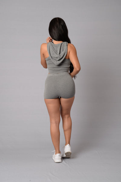 Hot Gossip Shorts - Heather Grey