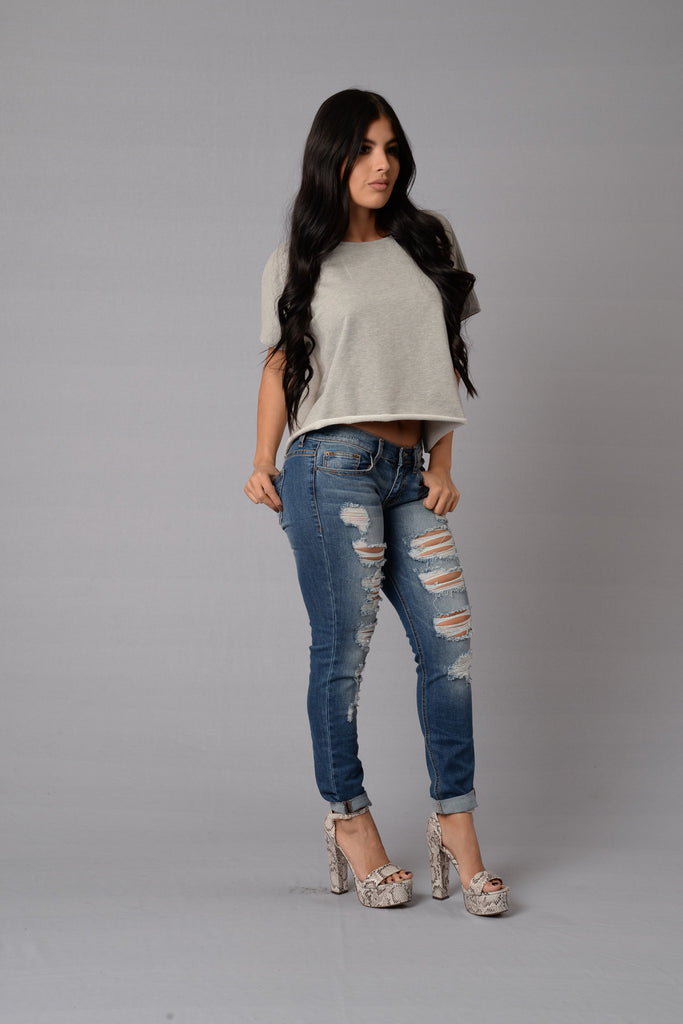Slouch Top - Heather Grey