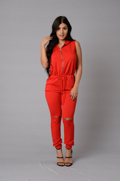 Gossip Jumpsuit - Red