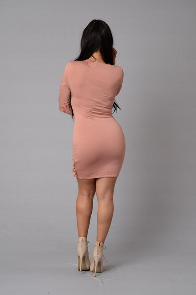 Here and Now Dress - Dusty Pink