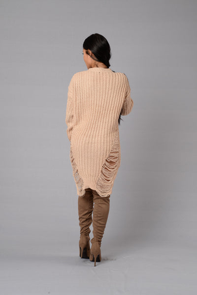 Unraveled Sweater - Blush