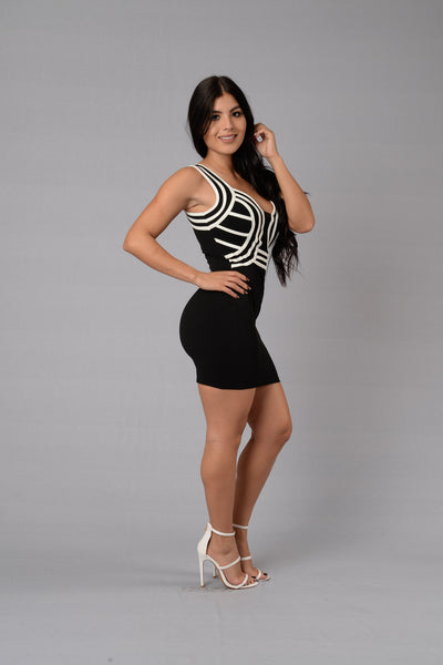 Amorous Dress - Black/White